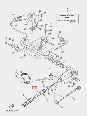 Втулка ручки газа для лодочного мотора F20 Sea-PRO (16-5)