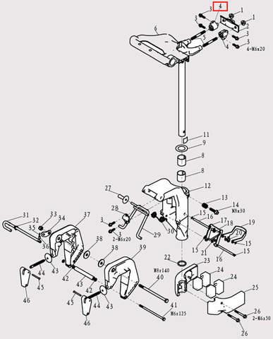 Амортизатор в сборе для лодочного мотора F9.8 Sea-PRO (13-4)