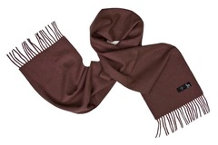 Шерстяной шарф коричневый 00807