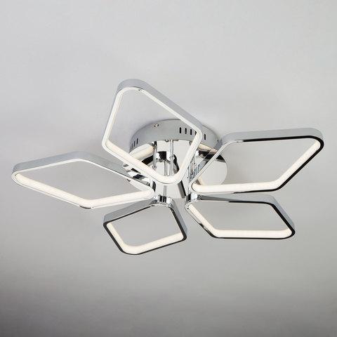 Светодиодный потолочный светильник 90081/5 хром