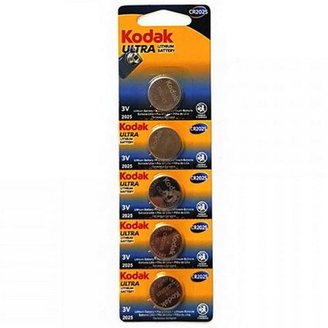 Батарейки литиевые Kodak CR 2025, 3V, 5 BL