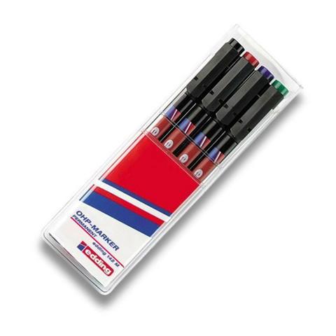 Набор маркеров Edding E-142 М/4 для глянцевых поверхностей и пленок 4 цвета (1 мм)