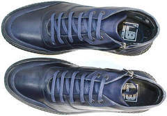 Стильные мужские ботинки из натуральной кожи Luciano Bellini BC2802 L Blue.