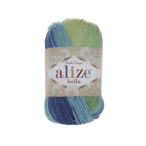 Пряжа Alize Bella Batik меланж сине-зеленый  4150