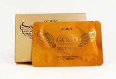 PETITFEE НАБОР Гидрогелевая маска-патч для шеи АНТИВОЗРАСТНАЯ/ЗОЛОТО Gold Neck Pack, 5 шт
