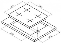 Варочная панель Korting HG 6115 CTRC схема