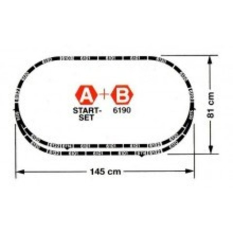 PROFI-Gleis - Станция: Рельсовый набор - B