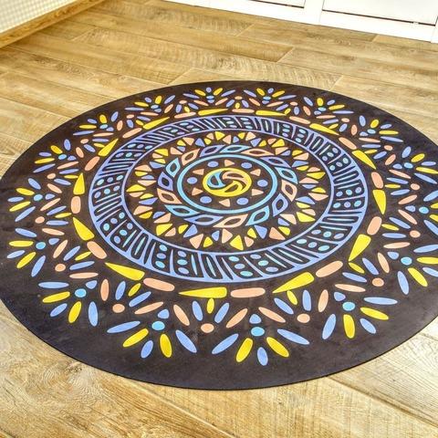 Коврик для йоги и медитации Майя из замши и каучука 140*140 см