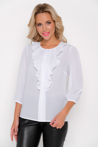 """<p>Восхитительная рубашка """"Жабо""""привлекательная сама по себе и придаст Вам праздничность и трожественность.</p>"""