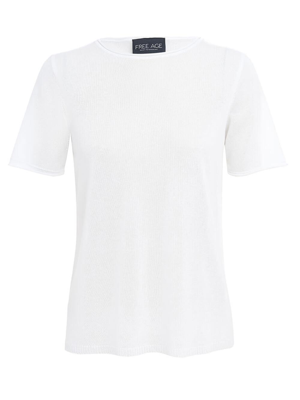 Женский джемпер белого цвета из вискозы - фото 1