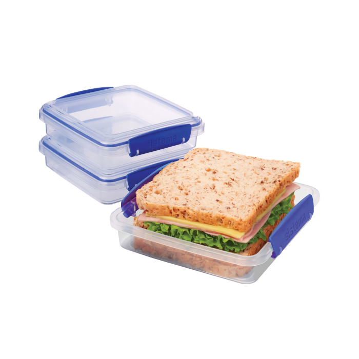 "Набор контейнеров для сэндвичей Sistema ""KLIP IT"" 450мл, 3шт."