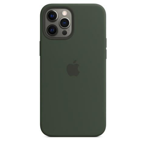 Apple Silicone Case на iPhone 12 Pro Max (Кипрский зеленый)