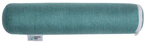 Детский валик для спины с наполнителем из гречишной лузги, 7*30 см, Beauty365, зеленый, Бьюти365, чудо валик 365