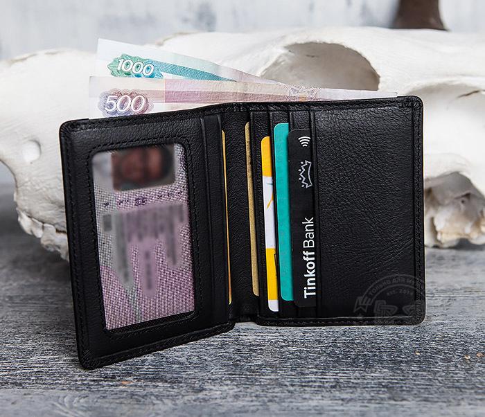 WL292-1 Небольшое мужское портмоне из натуральной кожи фото 06
