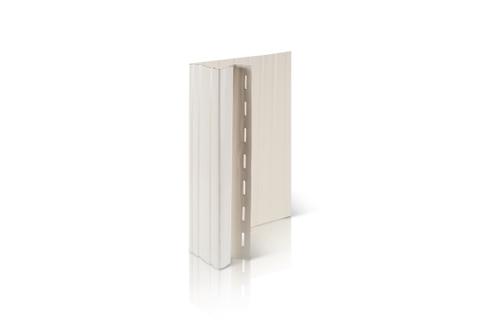 Фасадный декор Доломит - Околооконная планка Вертикальная Белая