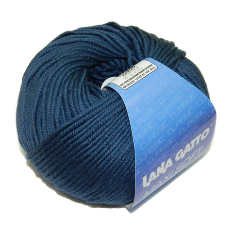 Пряжа Lana Gatto Maxi Soft 5522 джинс