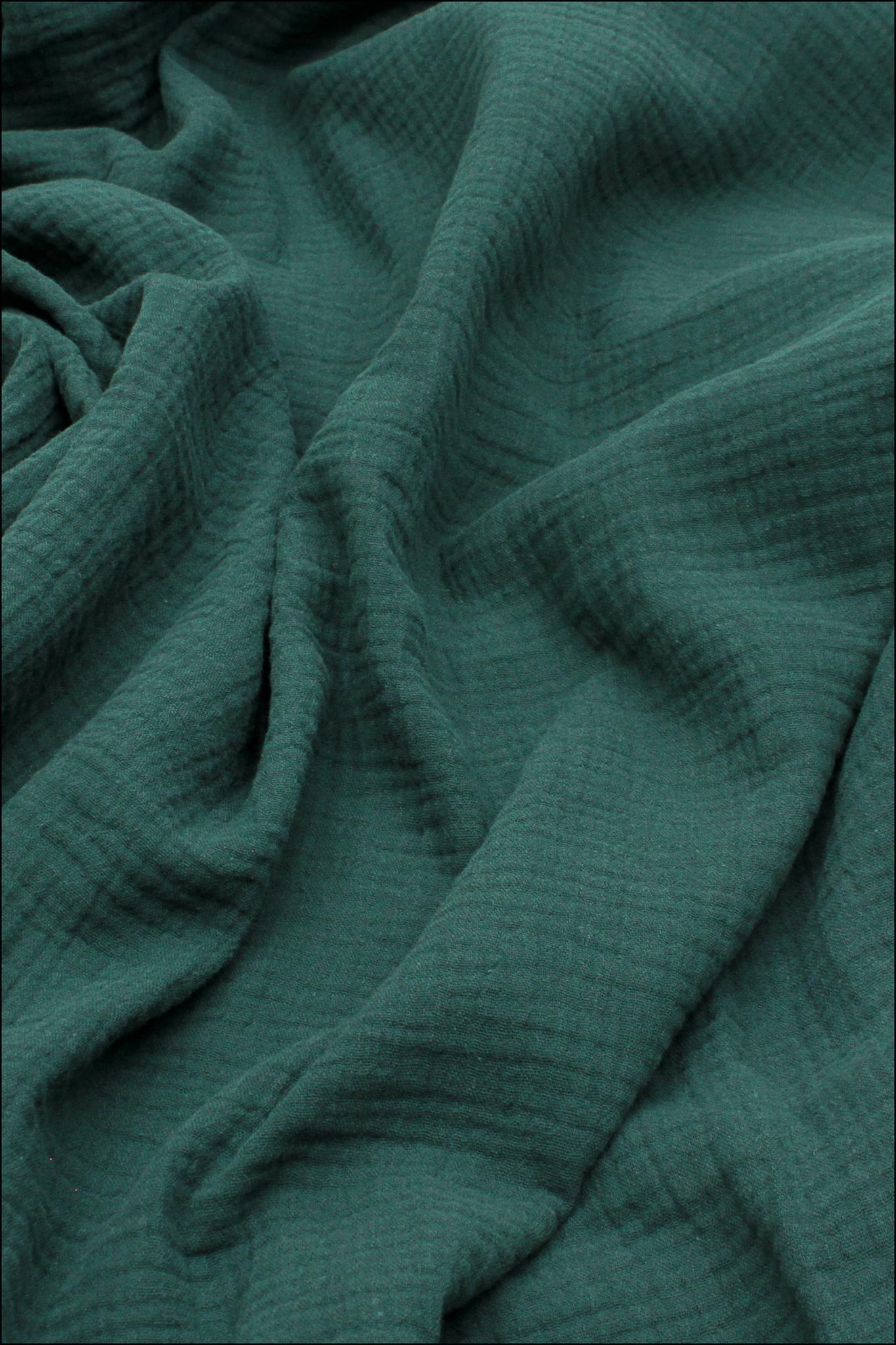 Ткань муслиновая,темно-зелёный