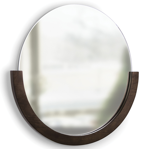 Зеркало настенное Mira D76 см темное дерево