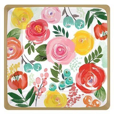 Тарелки большие Цветочный Вальс, 8 шт