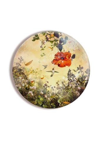 Картина на стекле тондо для интерьера круглая Whypro