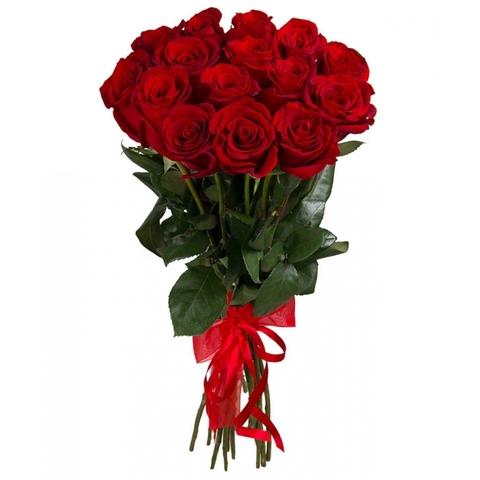 Букет из 15 Голландских высоких красных роз