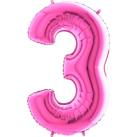 Цифра 3 (Розовая)