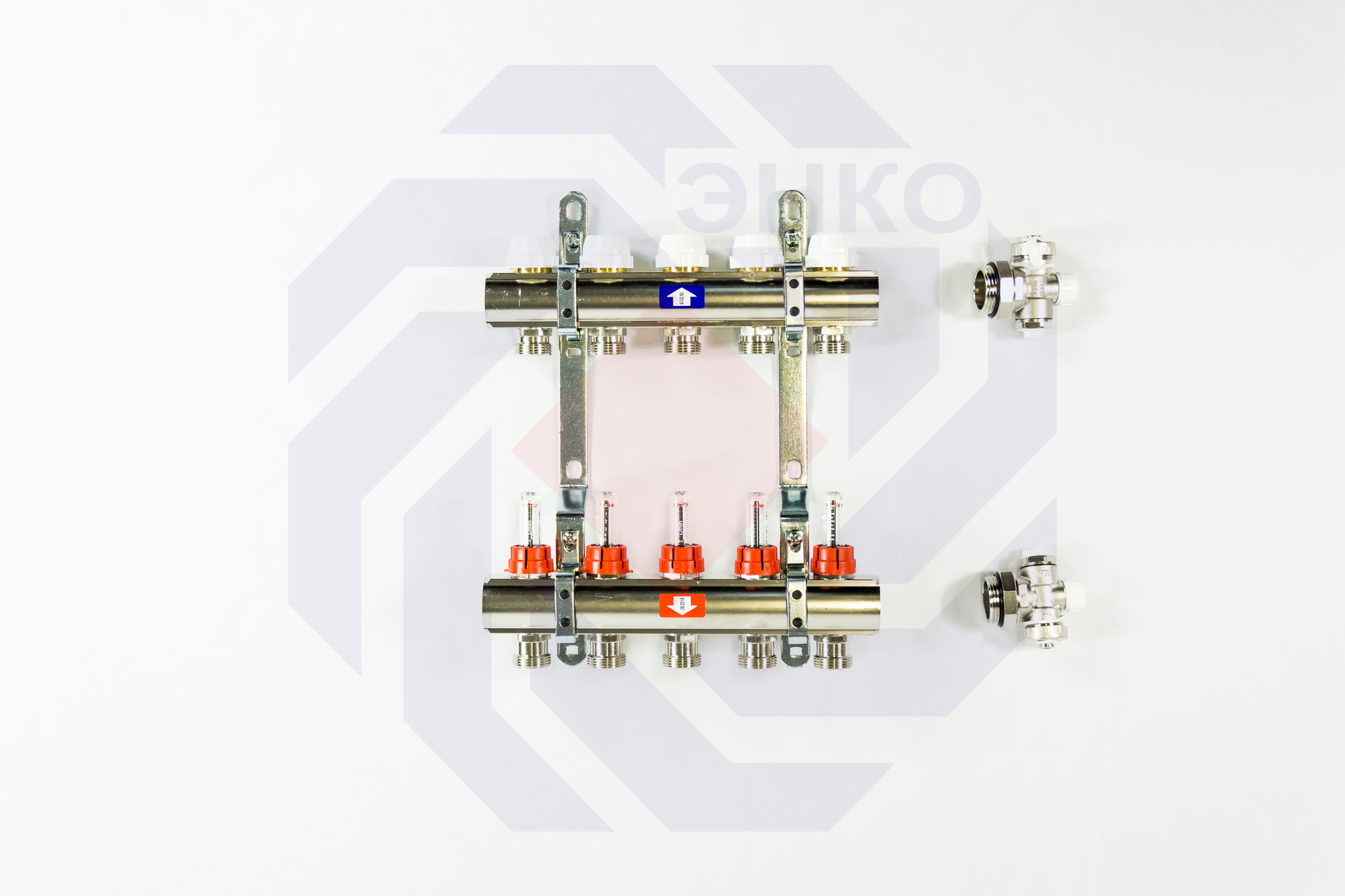 Комплект коллекторов с расходомерами ITAP 916C 5 контуров
