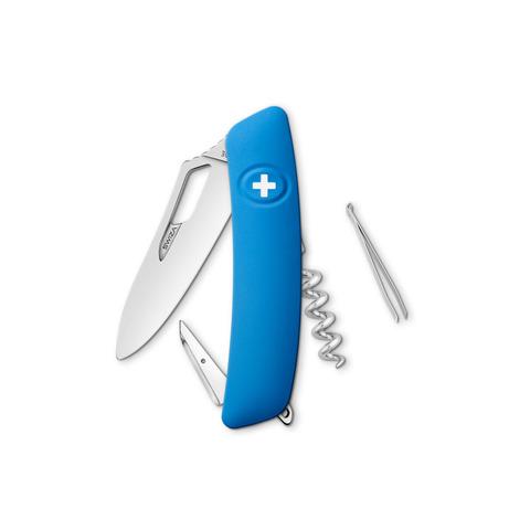 Швейцарский нож SWIZA SH01 R Standard, 95 мм, 7 функций, синий