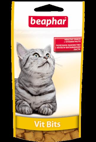 купить бефар Beaphar Vit-Bits подушечки с мультивитаминной пастой для кошек