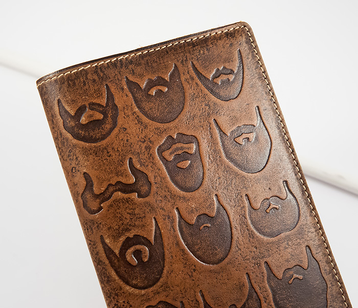 BY14-02-02 Прикольная обложка на паспорт с изображением бород, тиснение фото 04