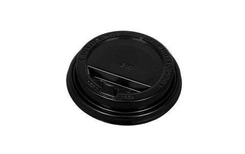 Крышка 80 мм черная с закрытым питейником, для стаканов 250 мл