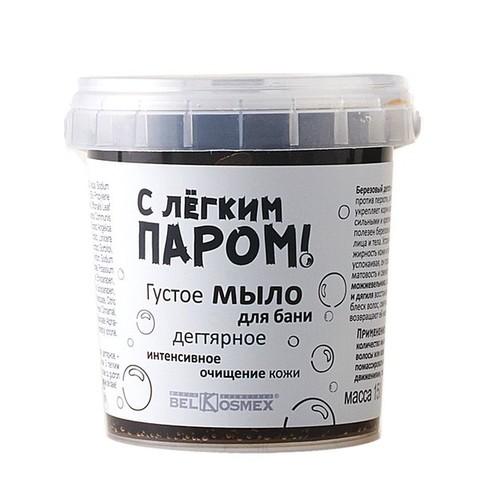 Густое мыло для бани Дегтярное интенсивное очищение кожи 150г