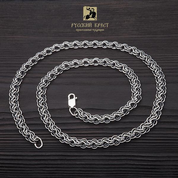 мужские цепи из серебра на шею Сармат