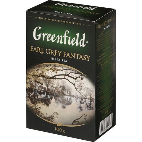 Чай Greenfield Earl Grey Fantasy черный с бергамотом 100 г