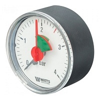 Манометр аксиальный WATTS MHA 63/4 (F+R101) 0-4 бар 63 мм ⅜