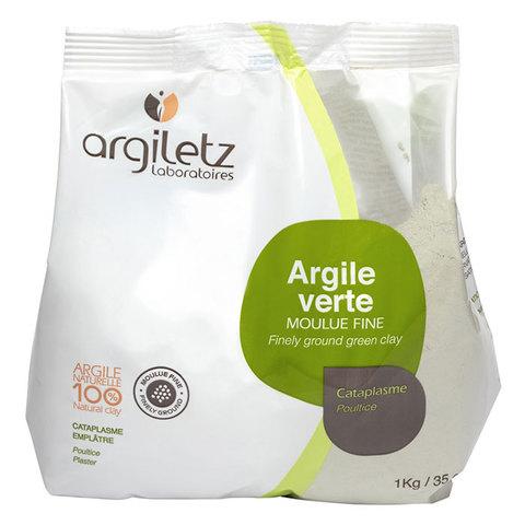 Зелёная глина тонкоизмельчённая - обёртывание для тела Argiletz, 1 кг
