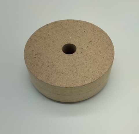 Деревянная основа круглая для цветов и светильников 100х100х35 мм, МДФ
