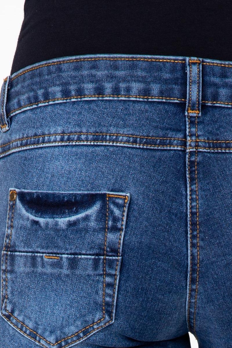 Джинсы для беременных (SLIM) 08190 синий