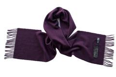 Шерстяной шарф сиреневый 00809