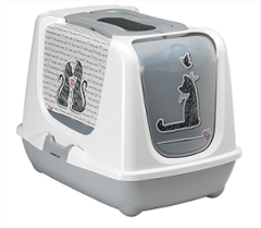 Био-туалет Moderna Cats in Love с совком, серый