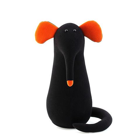 Подушка-игрушка антистресс Gekoko «Крыс повелитель Кис», черный