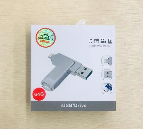 USB флешка OTG Lightning 3in1 64 GB Corsair /gray/