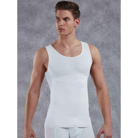 Мужская майка- корсет plus-size  Doreanse 5950P белая