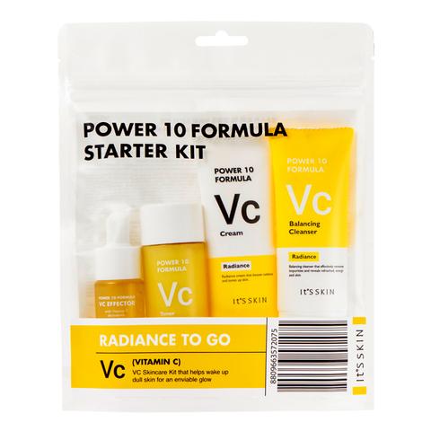It's Skin Уходовый набор миниатюр для лица, с витамином С Power 10 Formula VC Starter Kit, 52 мл+12 мл+35 мл+35