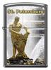 Зажигалка Zippo Петергоф, с покрытием Gray Dusk , латунь/сталь, серая, матовая, 36x12x56 мм