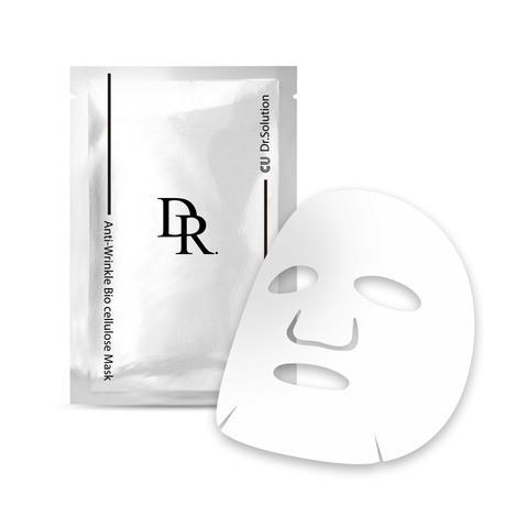 Купить CU SKIN CU: DR.SOLUTION ANTI-WRINKLE BIO CELLULOSE MASK - Биоцеллюлозная маска для лица с пептидами и волюфилином