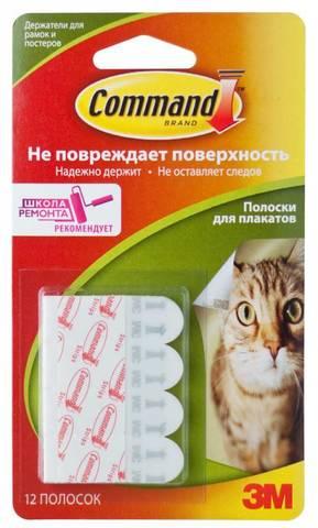 Полоски для плакатов 3M Command 17024 (упак: 12шт) (7100109087)