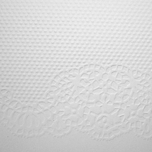 Бумага с тиснением Кружево, белый