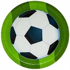 Тарелки 18 см Футбольный мяч, 6 шт.