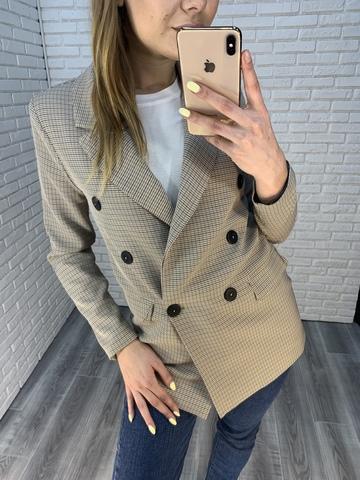 клетчатый пиджак женский недорого